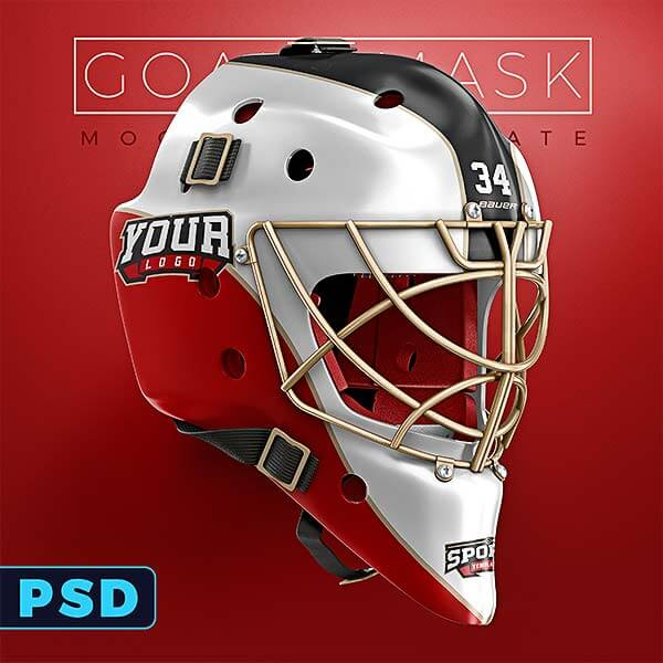 Hockey Goalie Mask Mockup Templates Sports Templates