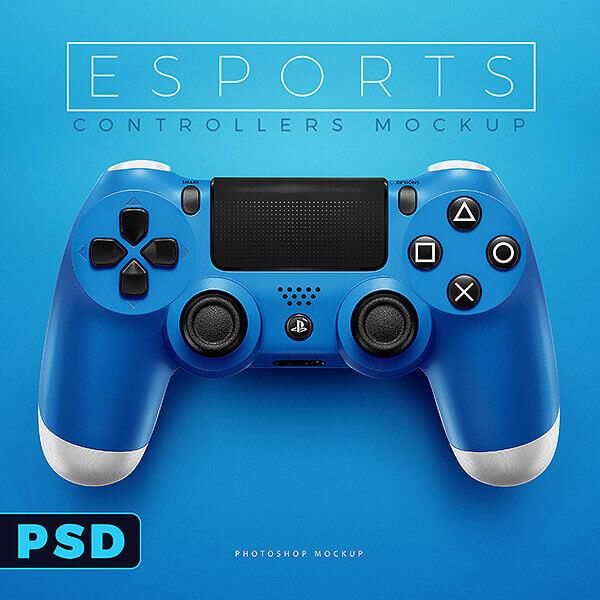 esports ps4 controllers mockup templates sports templates. Black Bedroom Furniture Sets. Home Design Ideas