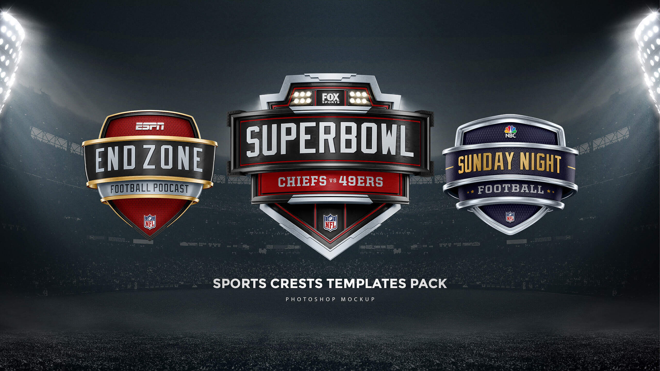 sports crest shield photoshop templates
