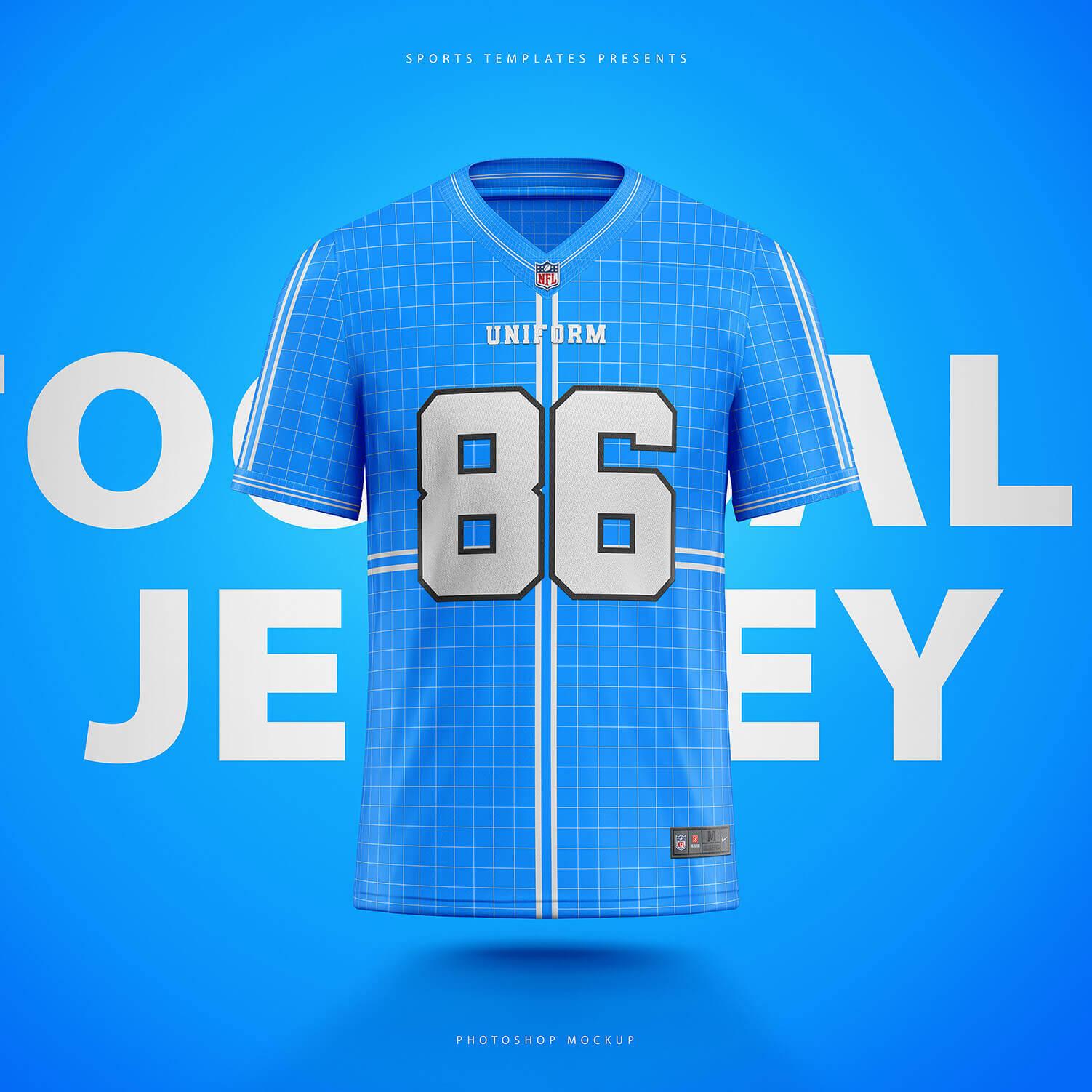 NFL Football jersey builder template – Sports Templates