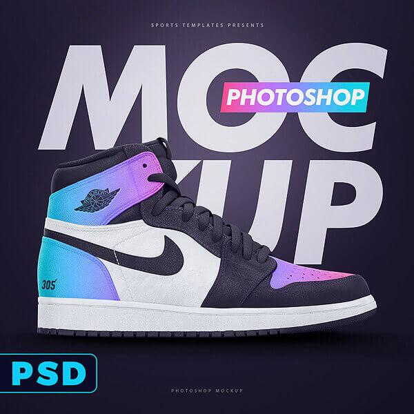 Sports Templates - Nike Jordans mockup