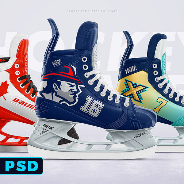 Ice Hockey skate photoshop template mockup
