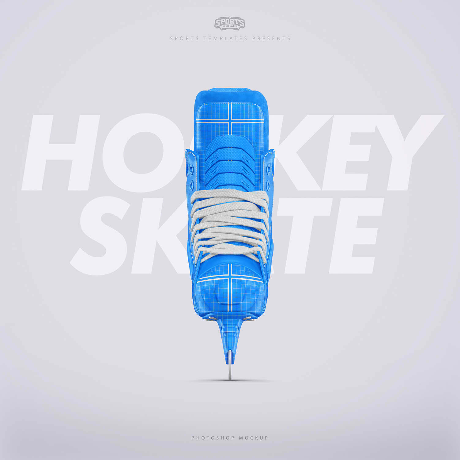 Ice Hockey skate Photoshop template Front view